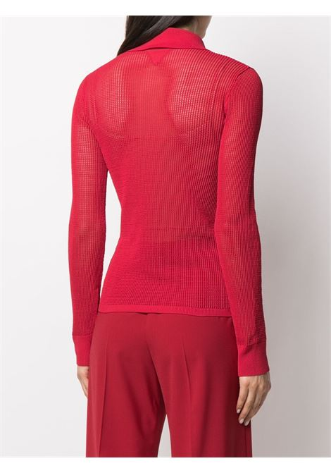 Red cotton sheer shirt featuring classic collar BOTTEGA VENETA |  | 648977-V0BN06144
