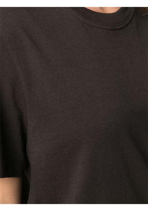 brown cotton short-sleeve T-shirt featuring round neck BOTTEGA VENETA |  | 649060-VF1U02113