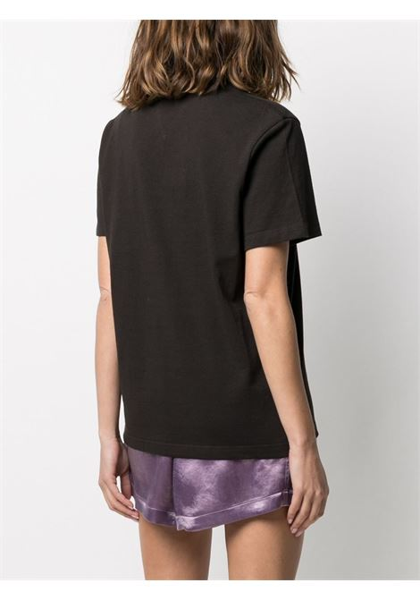 T-shirt a maniche corte in cotone marrone BOTTEGA VENETA | T-shirt | 649060-VF1U02113