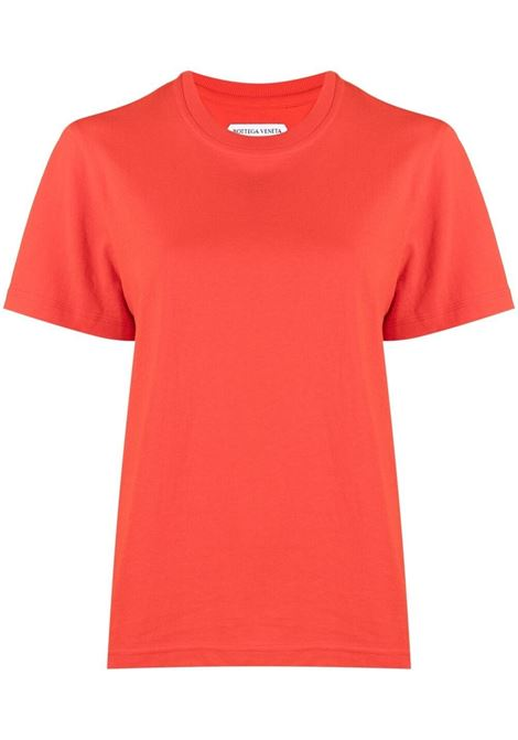 red cotton short-sleeve T-shirt featuring round neck BOTTEGA VENETA |  | 649060-VF1U06402