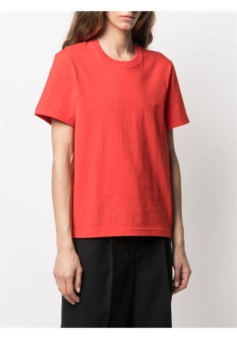 T-shirt a maniche corte in cotone rosso BOTTEGA VENETA | T-shirt | 649060-VF1U06402