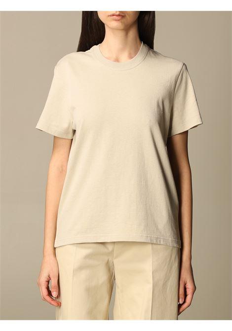 T-shirt a maniche corte in cotone color sabbia BOTTEGA VENETA | T-shirt | 649060-VF1U06761