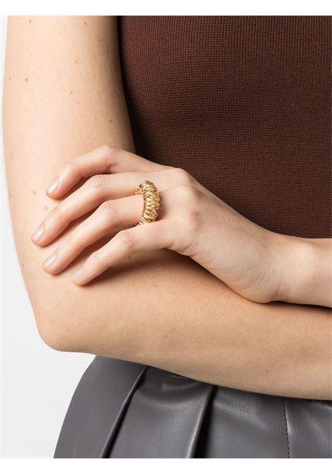 Anello in metallo dorato con dettaglio multi-giro BOTTEGA VENETA | Anello | 649201-VAHU08120