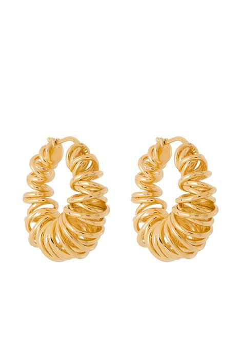 Gold-tone sterling silver spiral hoop earrings  BOTTEGA VENETA |  | 649276-VAHU08120