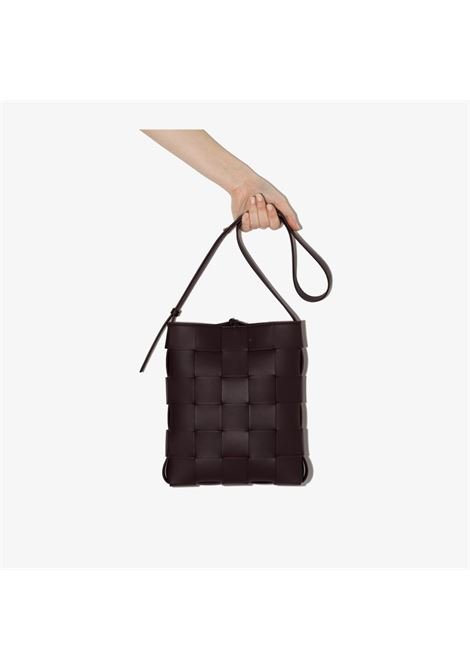 Bordeaux lamb leather Cassettte Messenger woven crossbody bag  BOTTEGA VENETA |  | 649601-VMAY15010