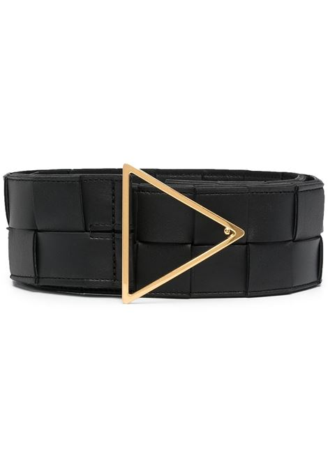 Black lamb leather Intrecciato 6cm belt   BOTTEGA VENETA |  | 651252-VMAY28425