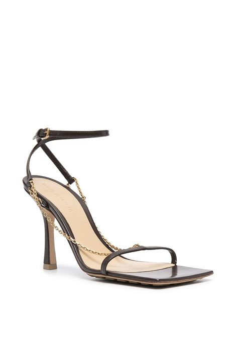 Brown lamb leather Stretch 90 sandals featuring buckle-fastening ankle strap BOTTEGA VENETA |  | 651385-VBSF02059