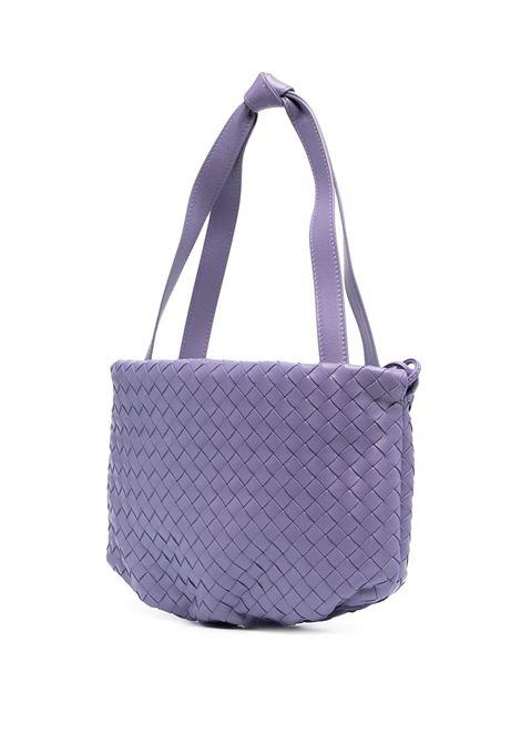 Purple lamb leather weave tote bag featuring signature Intrecciato design BOTTEGA VENETA |  | 651811-V08Z15130
