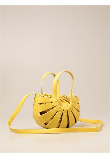 Yellow leather The Shell shoulder bag from featuring cut-out detailing BOTTEGA VENETA |  | 651819-VMAUH7136