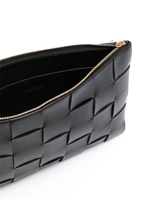 medium black leather Intrecciato clutch bag  BOTTEGA VENETA |  | 652931-VCQC18648