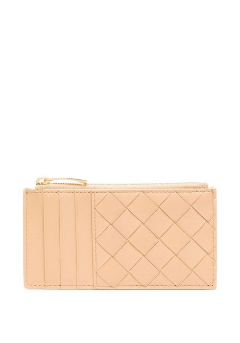 cream nappa leather Intrecciato zipped cardholder  BOTTEGA VENETA |  | 652932-VCPP32700