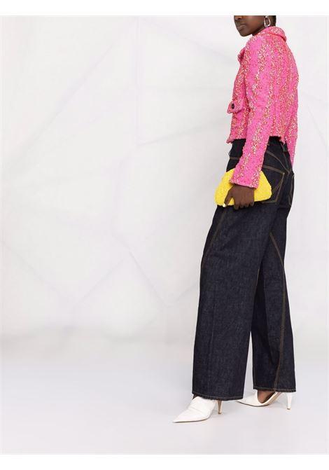 Pink and red long-sleeve cropped jacket BOTTEGA VENETA |  | 654178-V0YU05050