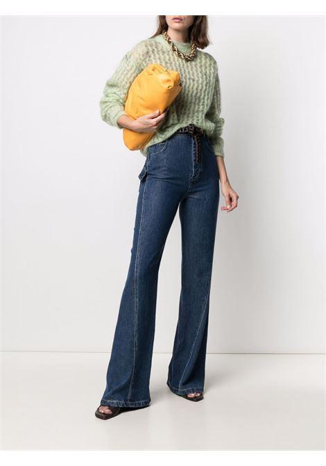 Blue lyocell cotton high-waisted bootcut jeans  BOTTEGA VENETA |  | 654286-V0SH04600