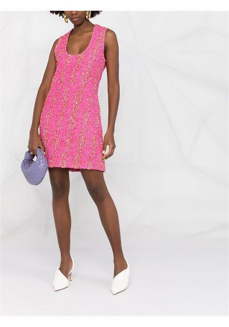 Miniabito smanicato in fantasia bouclé rosa BOTTEGA VENETA | Abiti | 656496-V0YU05050