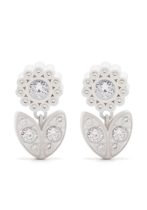 White flower crystal-embellished earrings  BOTTEGA VENETA |  | 657411-VBOBN9000