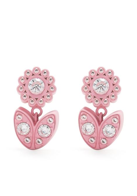 pink flower crystal-embellished earrings  BOTTEGA VENETA |  | 657411-VBOBN9975