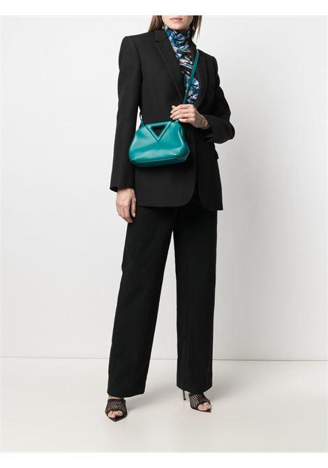teal calf leather small Point clutch bag  BOTTEGA VENETA |  | 658476-VCP403118