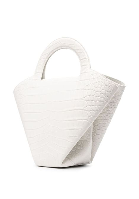 White calf leather Doll crocodile-effect tote bag  BOTTEGA VENETA |  | 658515-VA4509009