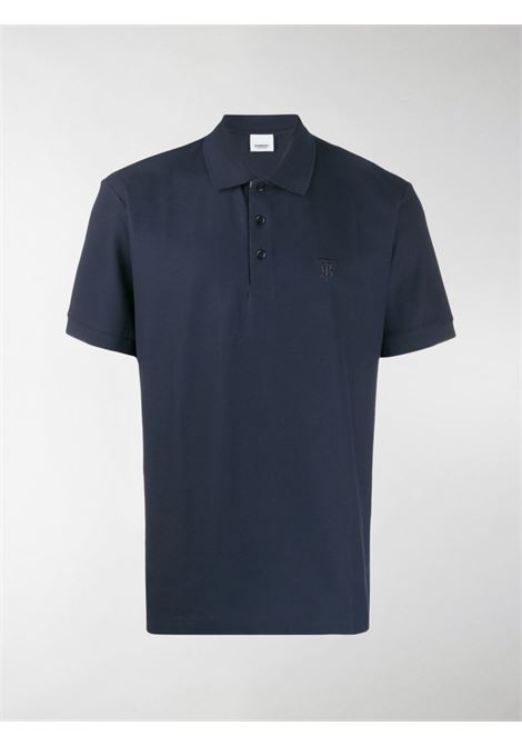 straight fit blue polo shirt featuring classic collar BURBERRY |  | 8014004-EDDIEA1222