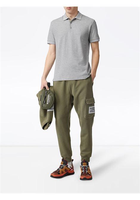 Polo grigia in piqué di cotone BURBERRY | Polo | 8014006-EDDIEA2142