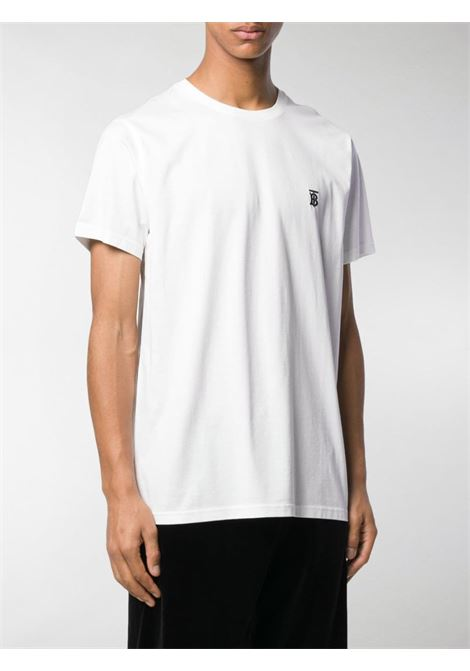 white cotton TB monogram-embroidered t.shirt  BURBERRY |  | 8014021-PARKERA1464