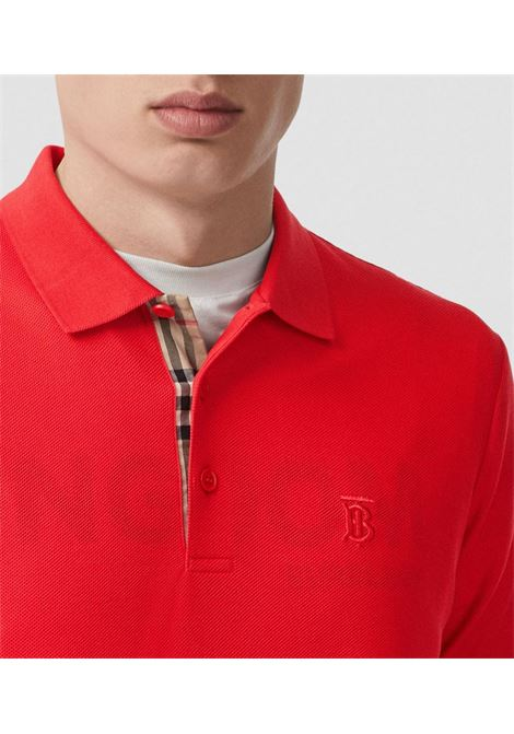 Red polo shirt in cotton piqué with an TB embroidered Monogram BURBERRY |  | 8014317-EDDIEA1460