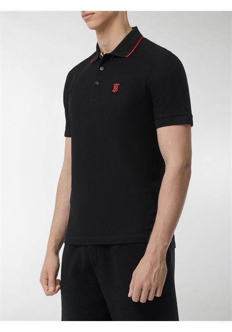 black cotton polo shirt with TB embroidered red monogram BURBERRY |  | 8017003-WALTONA1189