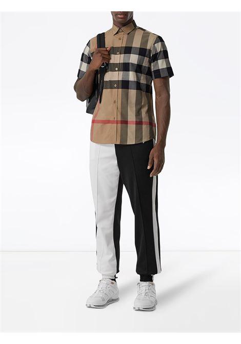camicia multicolore con stampa Burberry Check BURBERRY | Camicie | 8017322-SOMERTONA7028