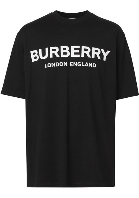 black cotton t.shirt feauting white Burberry logo BURBERRY |  | 8026016-LETCHFORDA1189