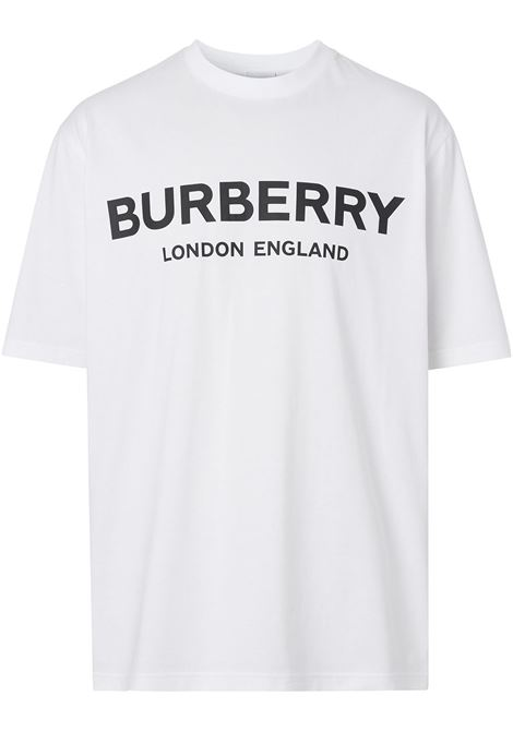 white cotton t.shirt with contrasting black Burberry logo BURBERRY |  | 8026017-LETCHFORDA1464