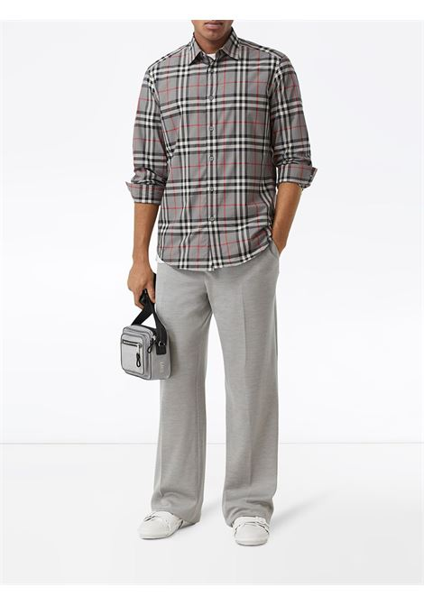melange grey cotton Check printed buttoned shirt  BURBERRY |  | 8028886-CAXTONA4706