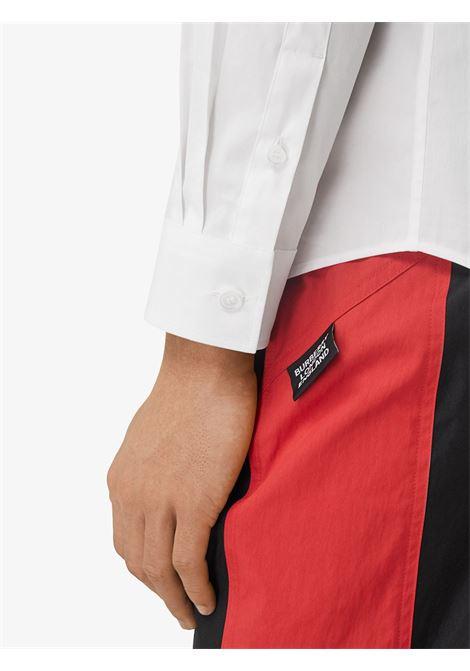 Camicia Vintage Check in cotone bianco con dettagli check beige BURBERRY | Camicie | 8032308-SHERWOODA1464