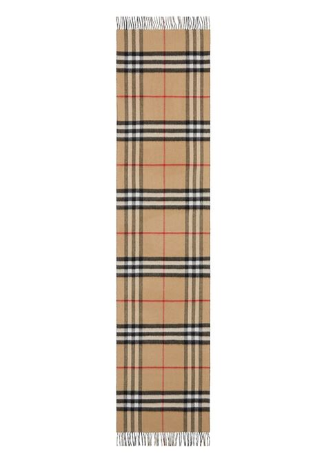Beige cashmere reversible Burberry Check cashmere scarf  BURBERRY |  | 8035910-MU GNT CHKA1189