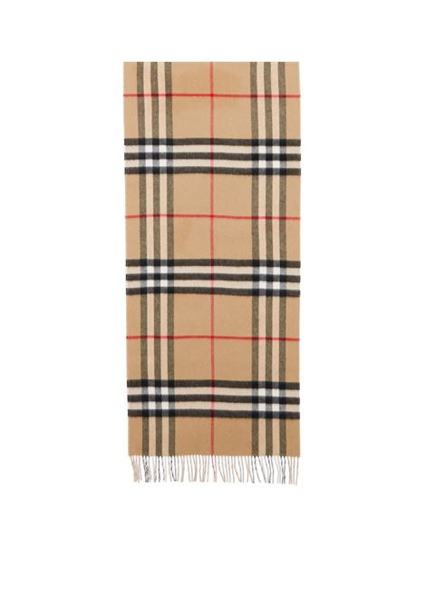 Pale pink, tan beige and black cashmere reversible Burberry Check print scarf  BURBERRY |  | 8035912-MU GNT CHKA3759