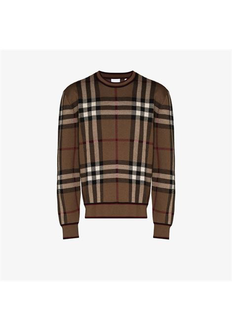 Brown merino wool Burberry Check print jumper  BURBERRY |  | 8036603-NAYLORA8773