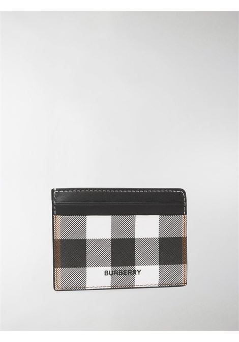 Black, grey and white check print cardholder  BURBERRY |  | 8036672-MS KIERA8900