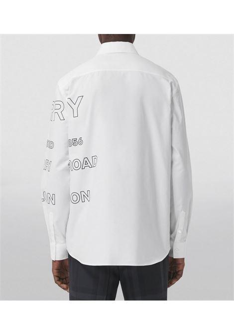 White cotton Horseferry-print Oxford shirt featuring all-over logo print BURBERRY |  | 8036768-TENNYSONA1464