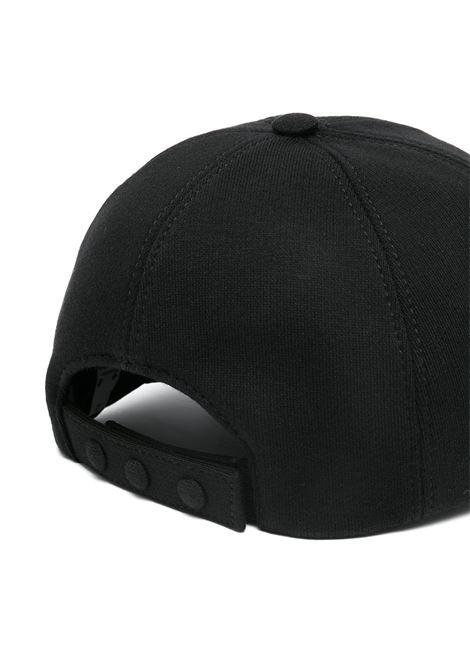 Black cotton TB white monogram-embroidered cap  BURBERRY |  | 8038141-MH BASEBALL CAPA1189