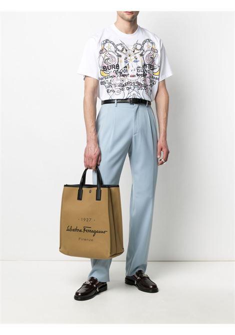 T-shirt a manica corta con stampa grafica in cotone bianco BURBERRY | T-shirt | 8040678-PRESCOTTA1464