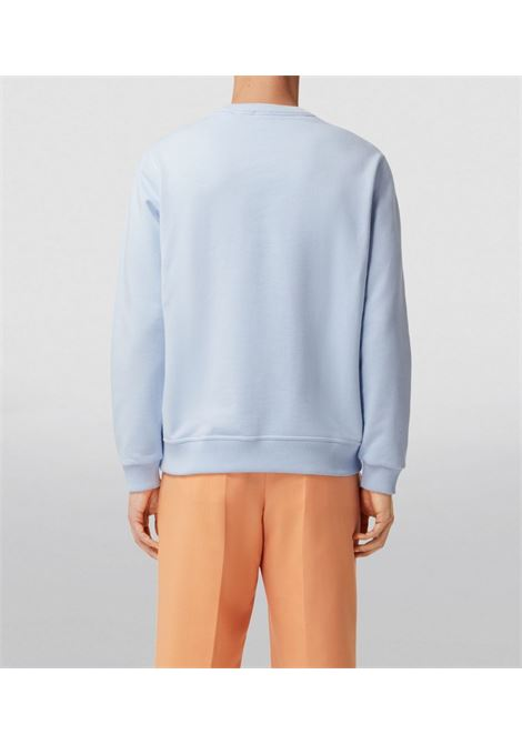 Felpa in cotone con stampa montage in cotone blu pallido BURBERRY | Felpe | 8040700-POLLARDA1397