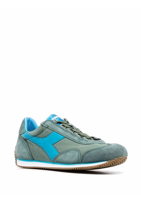Green and azure suede and leather Equipe sneakers  DIADORA |  | 174735-EQUIPE H CANVAS SW70153