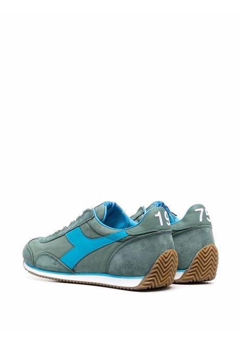 Sneakers Equipe in camoscio e pelle verde e azzurro DIADORA | Sneakers | 174735-EQUIPE H CANVAS SW70153