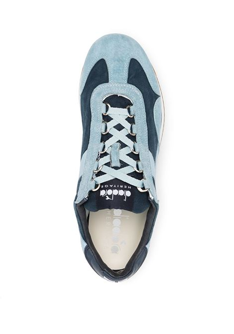 Sneakers Equipe in camoscio e pelle azzurro e blu DIADORA | Sneakers | 174735-EQUIPE H CANVAS SWC1017