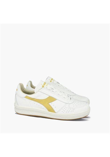 Sneakers basse B. Elite in pelle bianca con logo Diadora giallo DIADORA | Sneakers | 176277-B.ELITE H ITALIAC1070