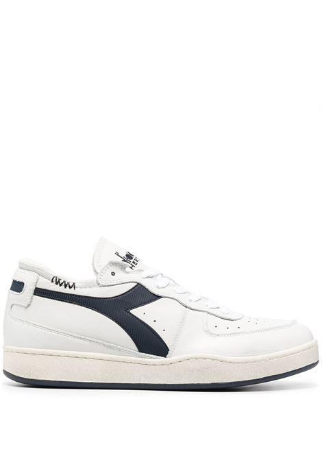 White and navy blue leather Mi Basket Row low-top sneakers  DIADORA |  | 176282-MI BASKET ROW CUTC1494