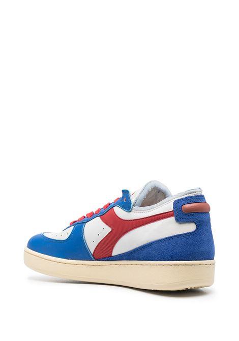 Sneakers Mi Basket Row Cut in pelle e camoscio blu, bianco e rosso DIADORA | Sneakers | 177152-MI BASKET ROW CUT PHILLY 6C0897