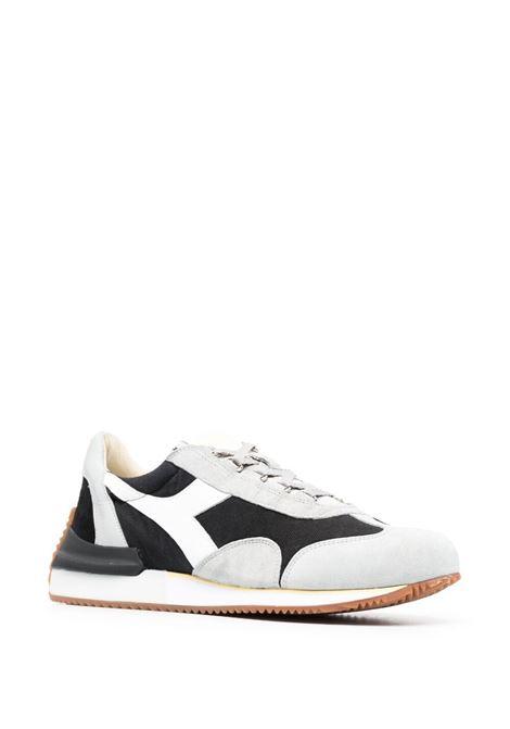 Sneaker Equipe in pelle nera, grigia e bianca con pannelli color block DIADORA | Sneakers | 177158-EQUIPE MAD ITALIAC1041