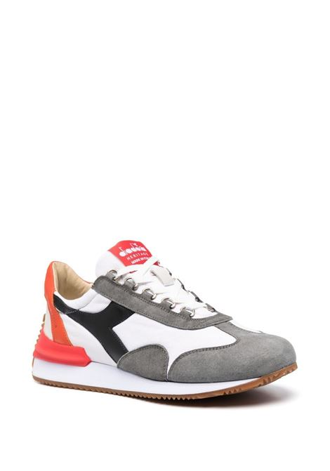 Sneakers Equipe in tela color ciliegia e pelle bianca in effetto stonewash DIADORA | Sneakers | 177158-EQUIPE MAD ITALIAC9343