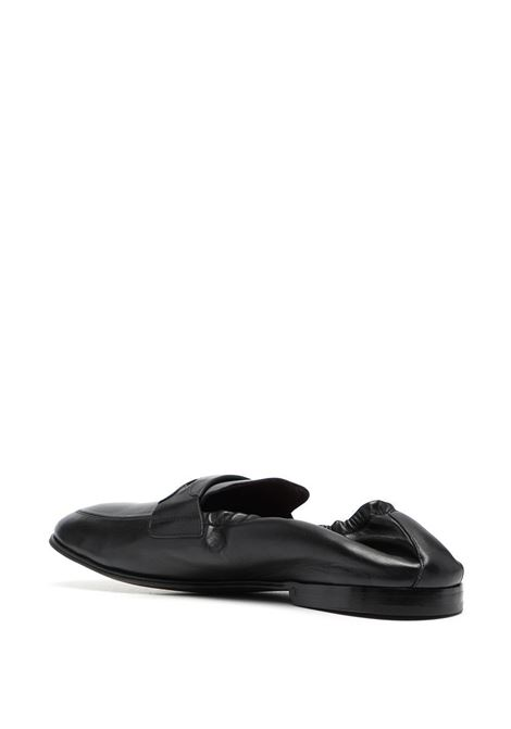 Black calf leather slippers featuring Dolce & Gabbana embossed logo  DOLCE & GABBANA |  | A50435-AW59380999