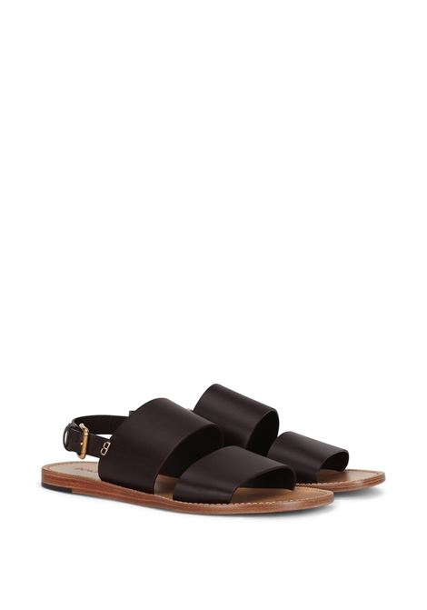 Dark brown calf leather double-strap sandals  DOLCE & GABBANA |  | A80224-AV38580057